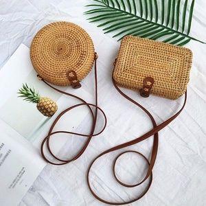 Handmade Woven Summer Beach Mini Shoulder Bag